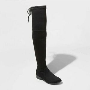 NWT Black Over-the-Knee Boots